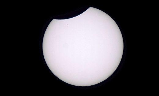 Partielle Sonnenfinsternis - Katzelsdorf - Sonne