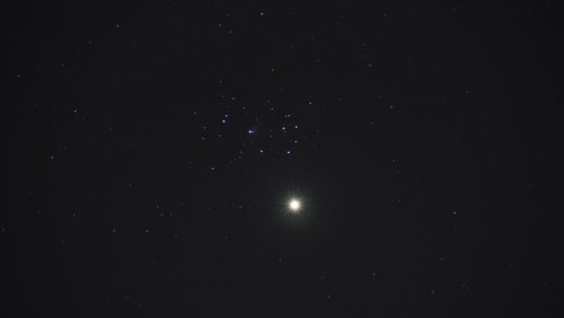 2020-04-02, 18:42 UT, Venus und Plejaden